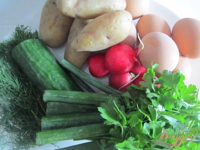 Фото приготовление рецепта: Овощная пикантная окрошка шаг №1