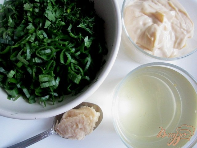 Фото приготовление рецепта: Овощная пикантная окрошка шаг №4