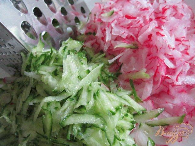 Фото приготовление рецепта: Овощная пикантная окрошка шаг №3