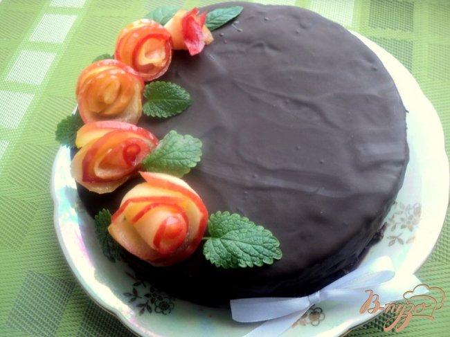 Фото приготовление рецепта: Постный шоколадный торт «Именинный» шаг №11