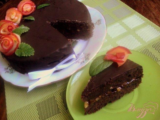Фото приготовление рецепта: Постный шоколадный торт «Именинный» шаг №12