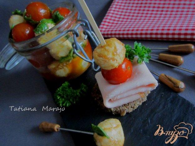 Рецепт Закуска из моцареллы и томатов черри