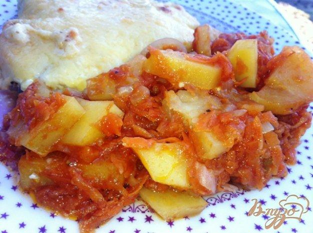 фото рецепта: Тушеная картошечка с овощами.