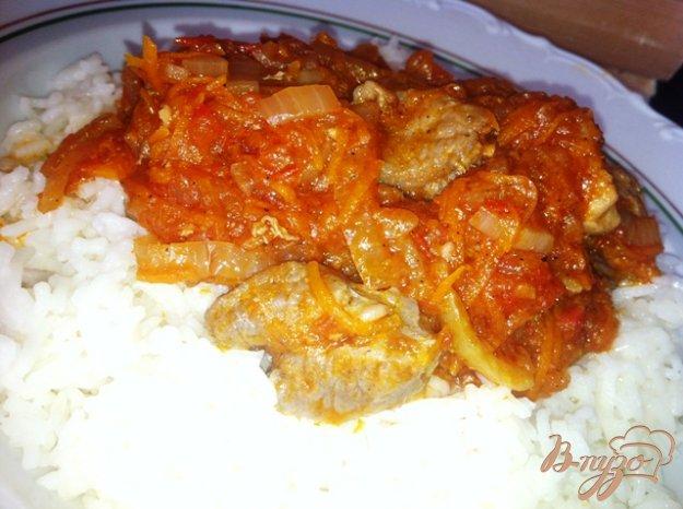 фото рецепта: Гуляш с рисом