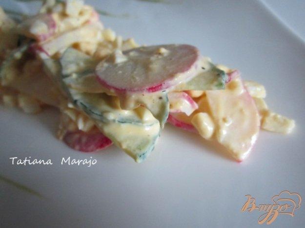 Рецепт Салат из редиса с яйцом