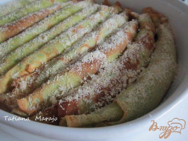 Рецепт Блинчики с начинкой из соуса бешамель и зеленой спаржи