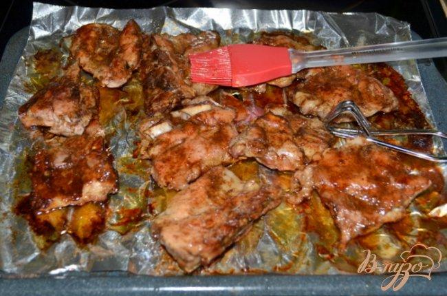 Фото приготовление рецепта: Риблет свиной с медовой глазурью шаг №6