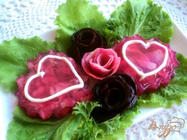 Рецепт Заливное «Валентинка»