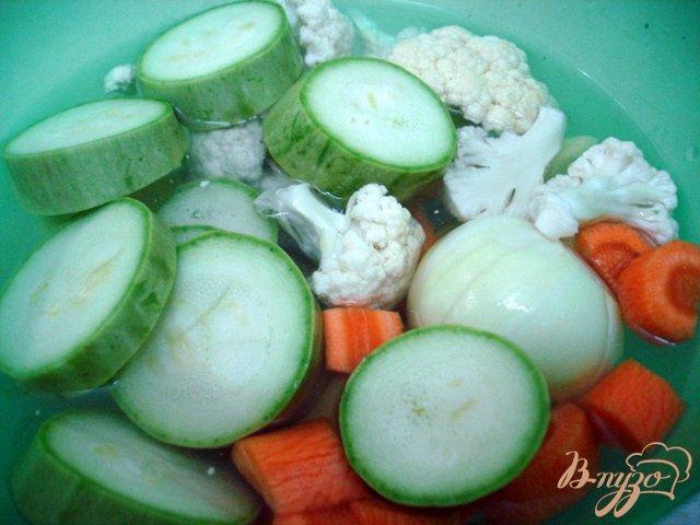 Фото приготовление рецепта: Суп пюре из кабачков с яичным суфле шаг №2