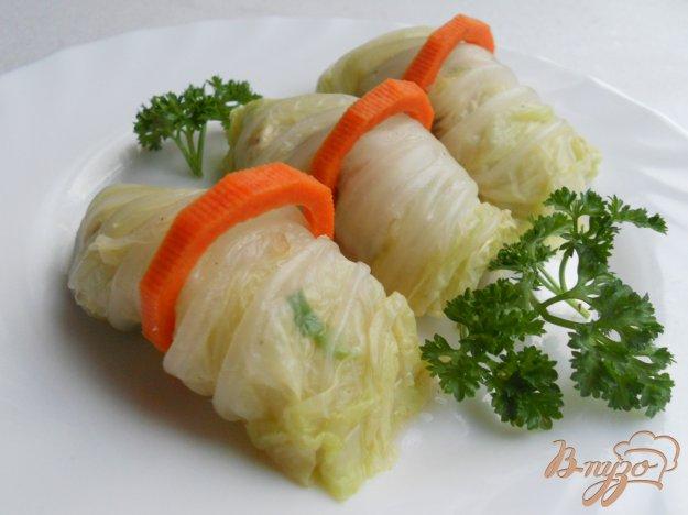 Рецепт Капустные рулетики с рыбным салатом