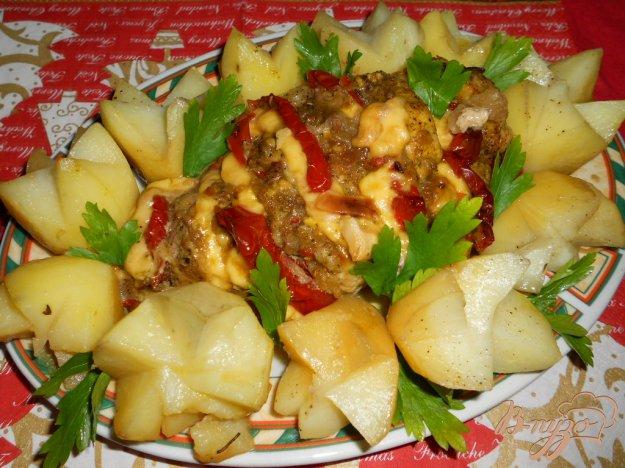 Рецепт Свинина, запеченная в рукаве с картофелем