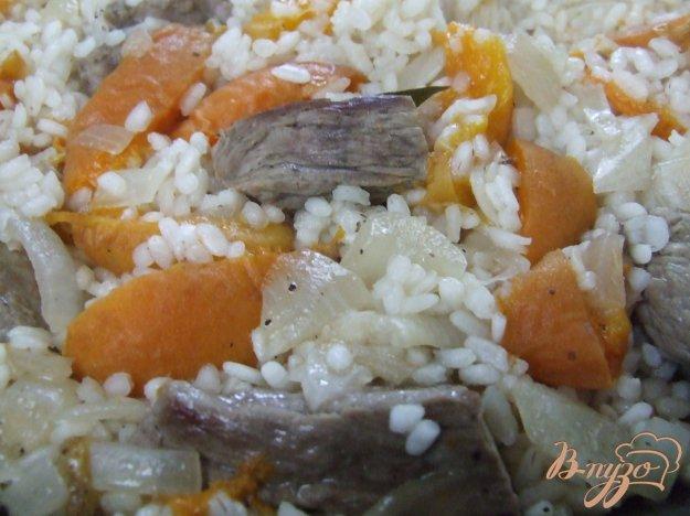 Рецепт Рис с мясом и абрикосами