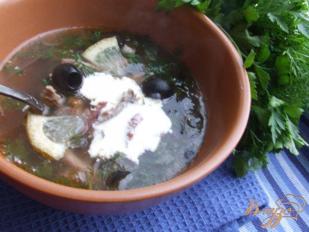 фото рецепта: Солянка с копченостями