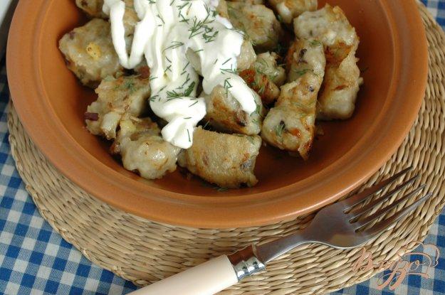 Рецепт Картофельные клецки с белыми грибами