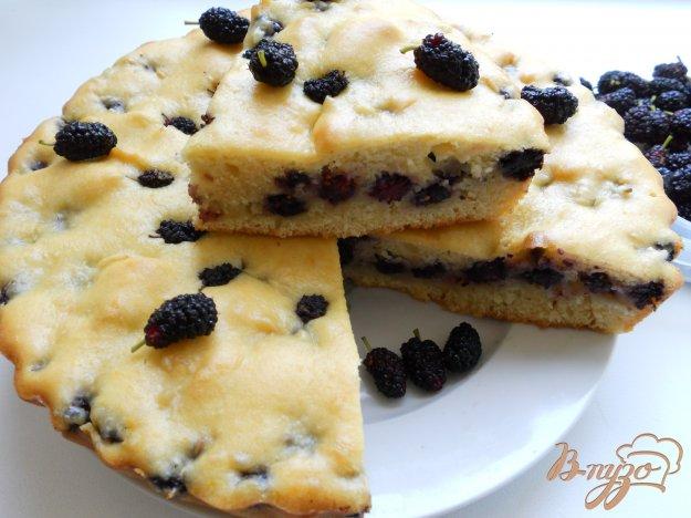 Рецепт Быстрый пирог с шелковицей
