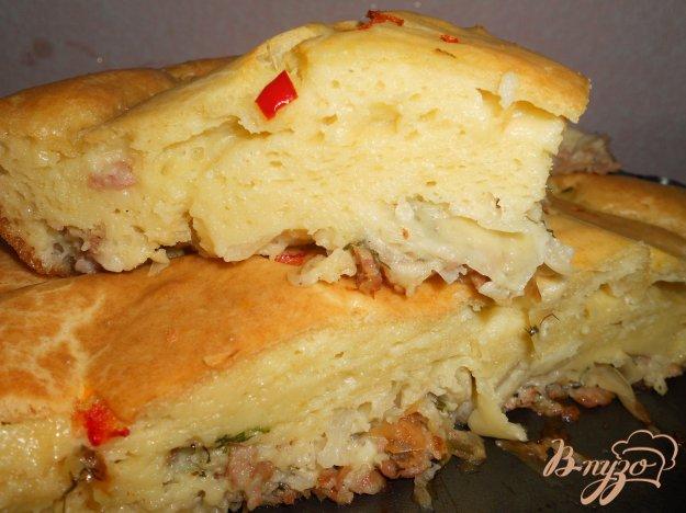 Рецепт Наливной пирог с капустой и фаршем