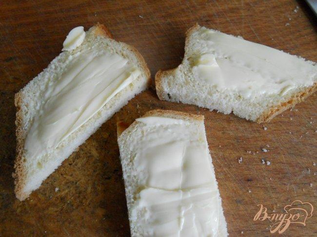 Фото приготовление рецепта: Канапе с семгой и яйцом шаг №2