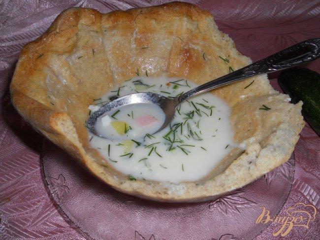 Фото приготовление рецепта: Хлебная тарелка для супа из цельнозерновой муки шаг №5