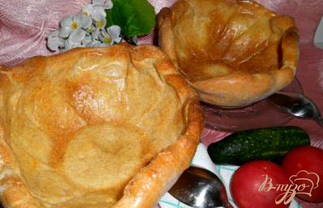 Фото приготовление рецепта: Хлебная тарелка для супа из цельнозерновой муки шаг №4