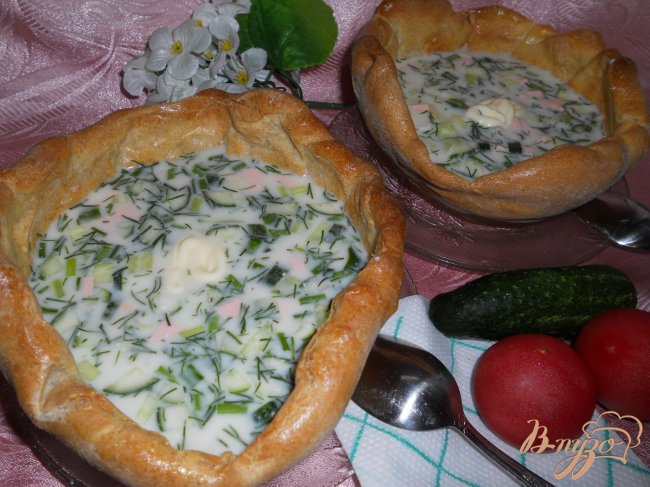 Фото приготовление рецепта: Хлебная тарелка для супа из цельнозерновой муки шаг №6