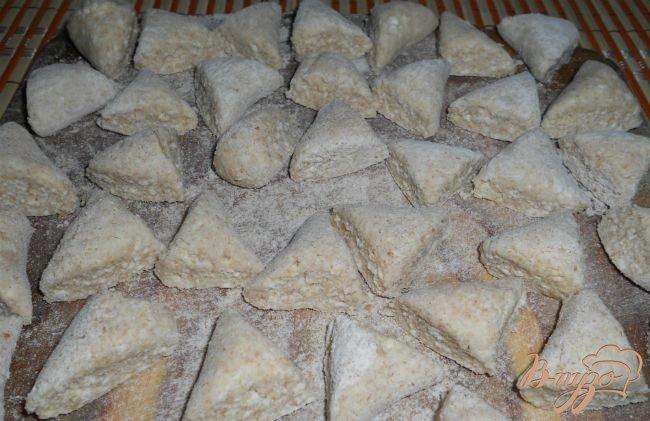 Фото приготовление рецепта: Вареники ленивые с цельнозерновой мукой шаг №3