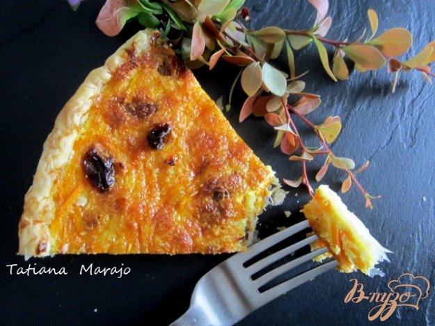 Рецепт Открытый пирог с морковью и изюмом
