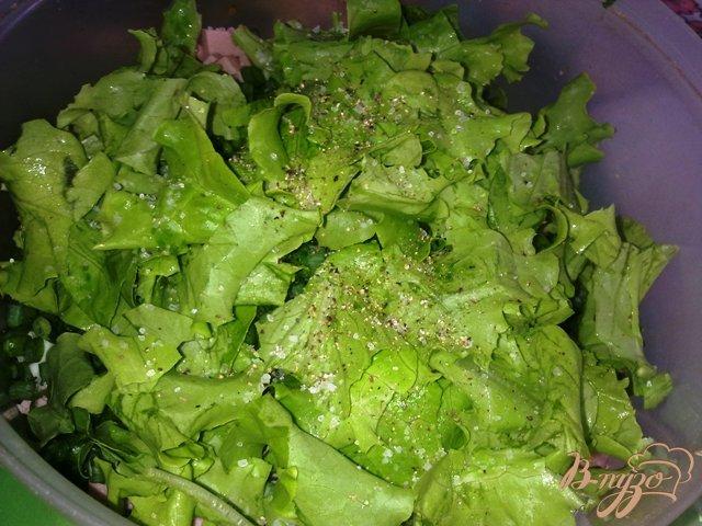 Фото приготовление рецепта: Сытный салат «Весенний» шаг №8