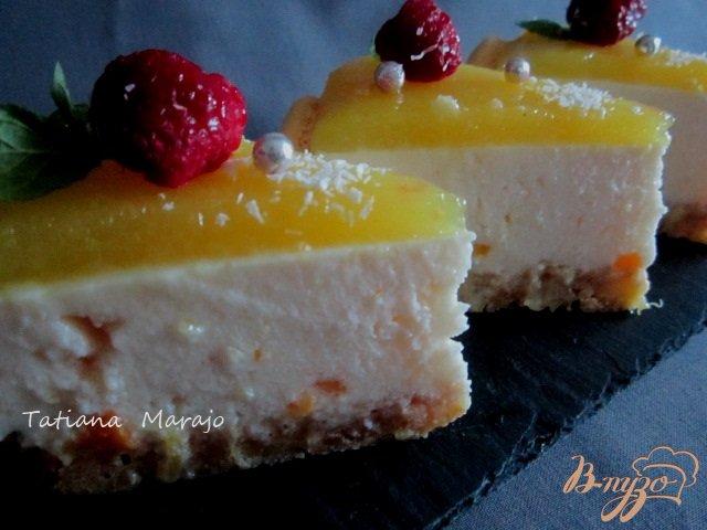 Фото приготовление рецепта: Йогуртово-ананасовый тортик шаг №14