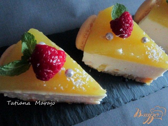 Фото приготовление рецепта: Йогуртово-ананасовый тортик шаг №15