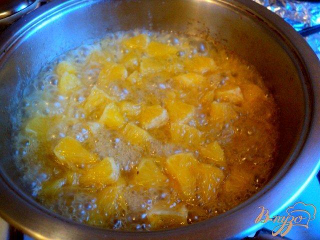 Фото приготовление рецепта: Десерт « Лед и пламя» шаг №6