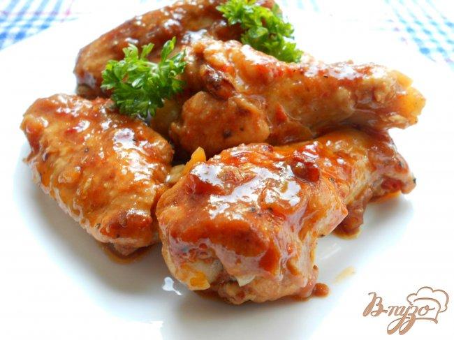 Фото приготовление рецепта: Крылья куриные в томатном  маринаде шаг №5