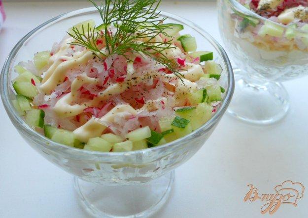 Рецепт Салат с редисом и колбасой