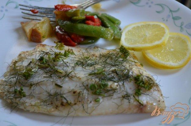 Рецепт Тилапия со свежей зеленью