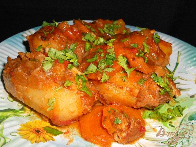 Фото приготовление рецепта: Картофель фаршированный мясом - Мафрум шаг №6