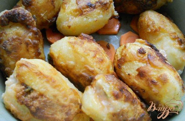 Фото приготовление рецепта: Картофель фаршированный мясом - Мафрум шаг №4