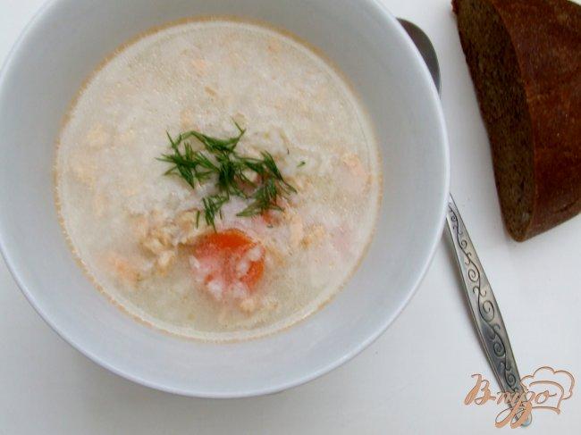 Фото приготовление рецепта: Суп из хребта семги шаг №5