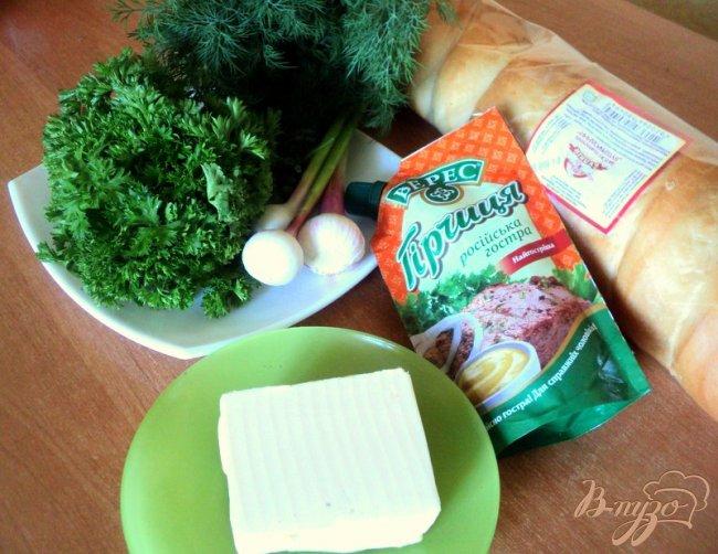 Фото приготовление рецепта: Багет запеченный в фольге шаг №1
