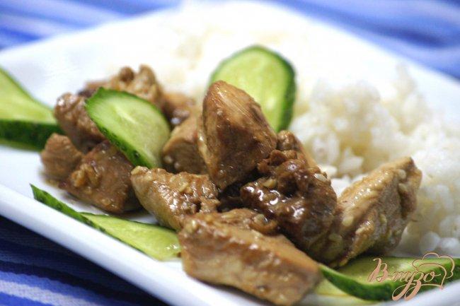 Куриное филе с кунжутом и имбирем