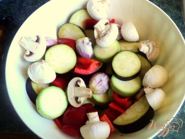 Фото приготовление рецепта: Овощные шашлыки шаг №2