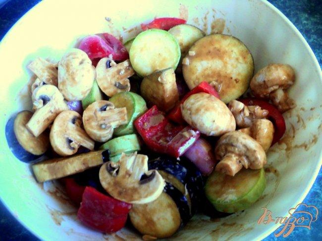 Фото приготовление рецепта: Овощные шашлыки шаг №4