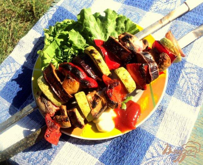 Фото приготовление рецепта: Овощные шашлыки шаг №6