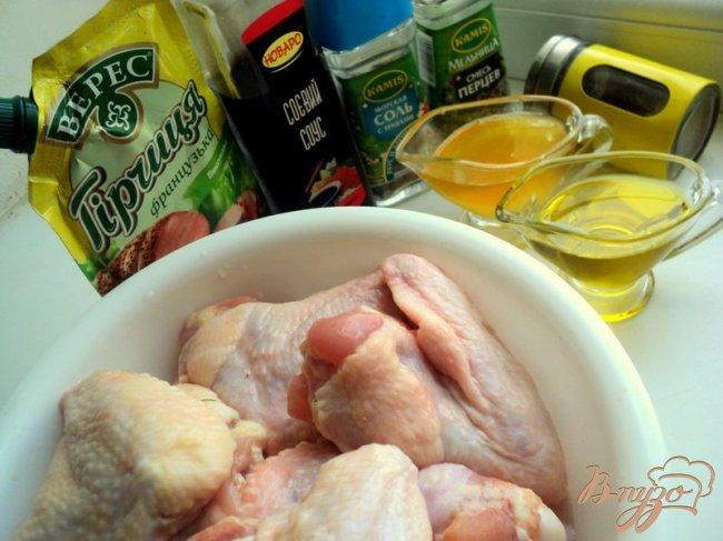 Фото приготовление рецепта: Куриные крылышки и бедрышки – гриль шаг №1