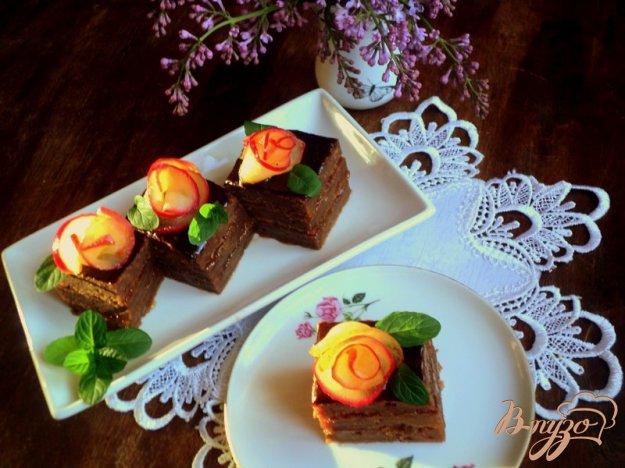 Рецепт Яблочно-абрикосовое пирожное (постное)