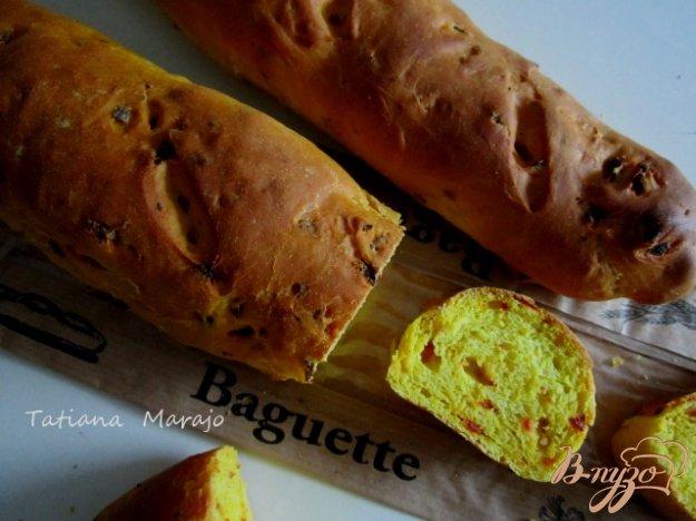 Рецепт Багеты с кусочками чоризо и куркумой