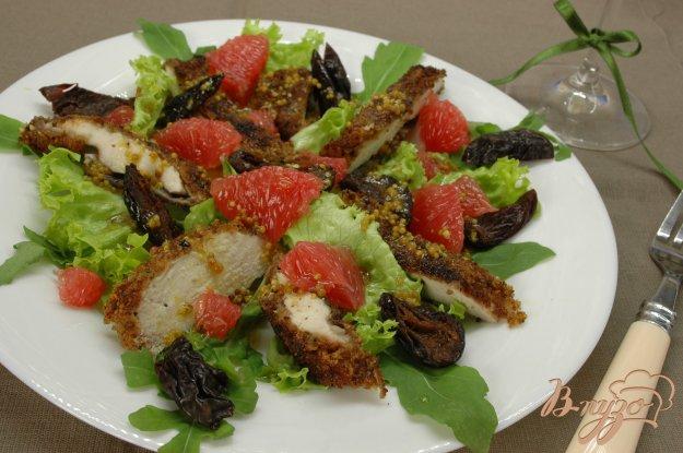Рецепт Салат с куриным филе и грейпфрутом