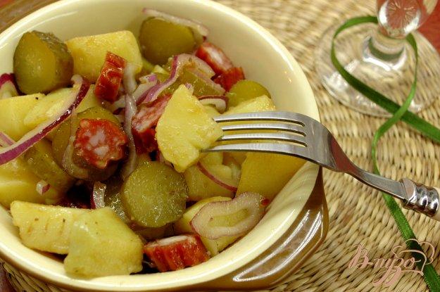 Рецепт Картофельный салат с селянской колбаской