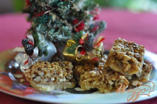 Ореховый тройной десерт