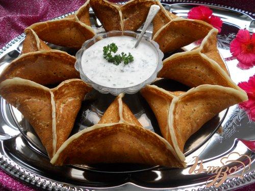Арабские блины Катаеф с грибами и сыром