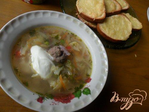 Весенний суп с фрикадельками