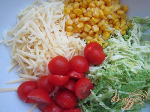 Пикантный салат  из савойской капусты  с сыром